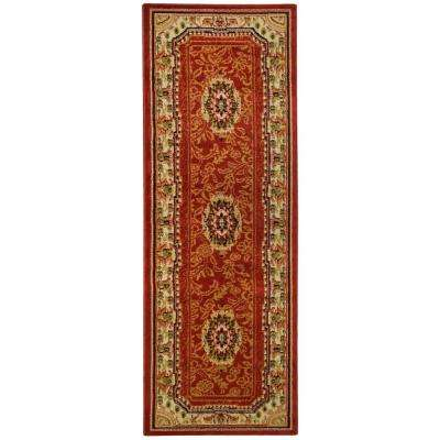 Ephes Collection Red 2 ft. x 7 ft. Runner Rug