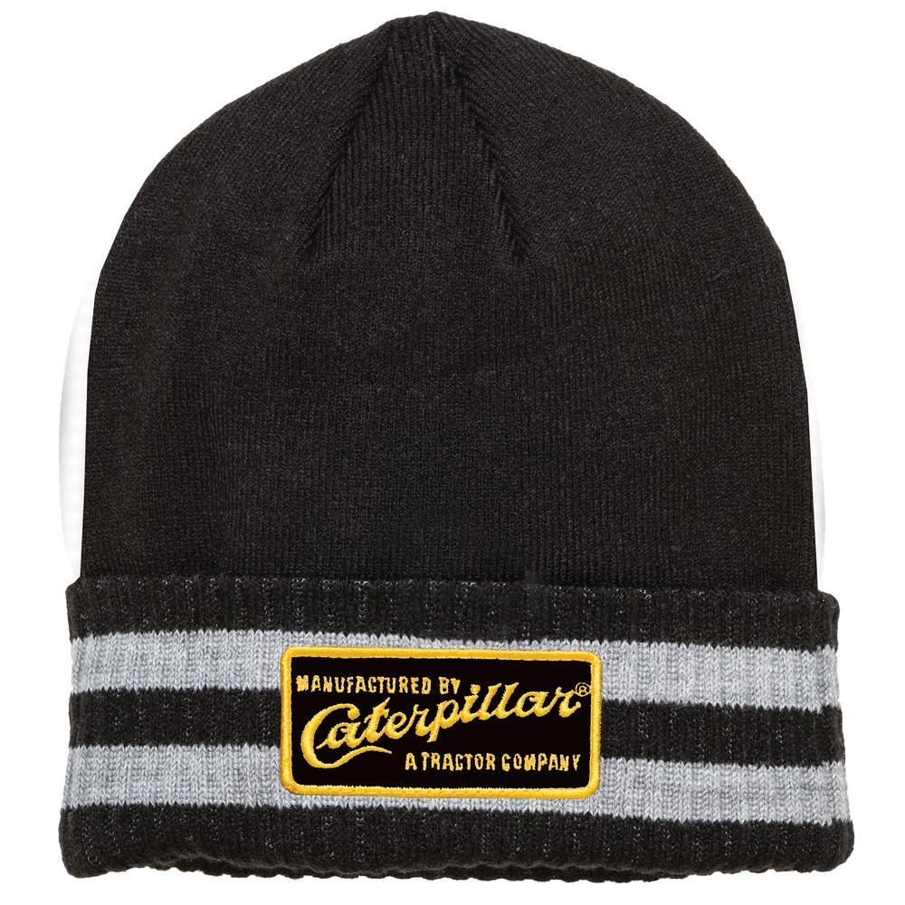 1580cce0c4 Caterpillar Dillon Men's One Size Black Acrylic/Spandex Knit Cap ...