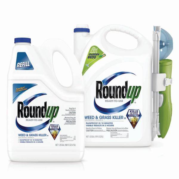 Roundup Ready To Use Weed And Grass Killer Iii Product Bundle Vb00019 The Home Depot