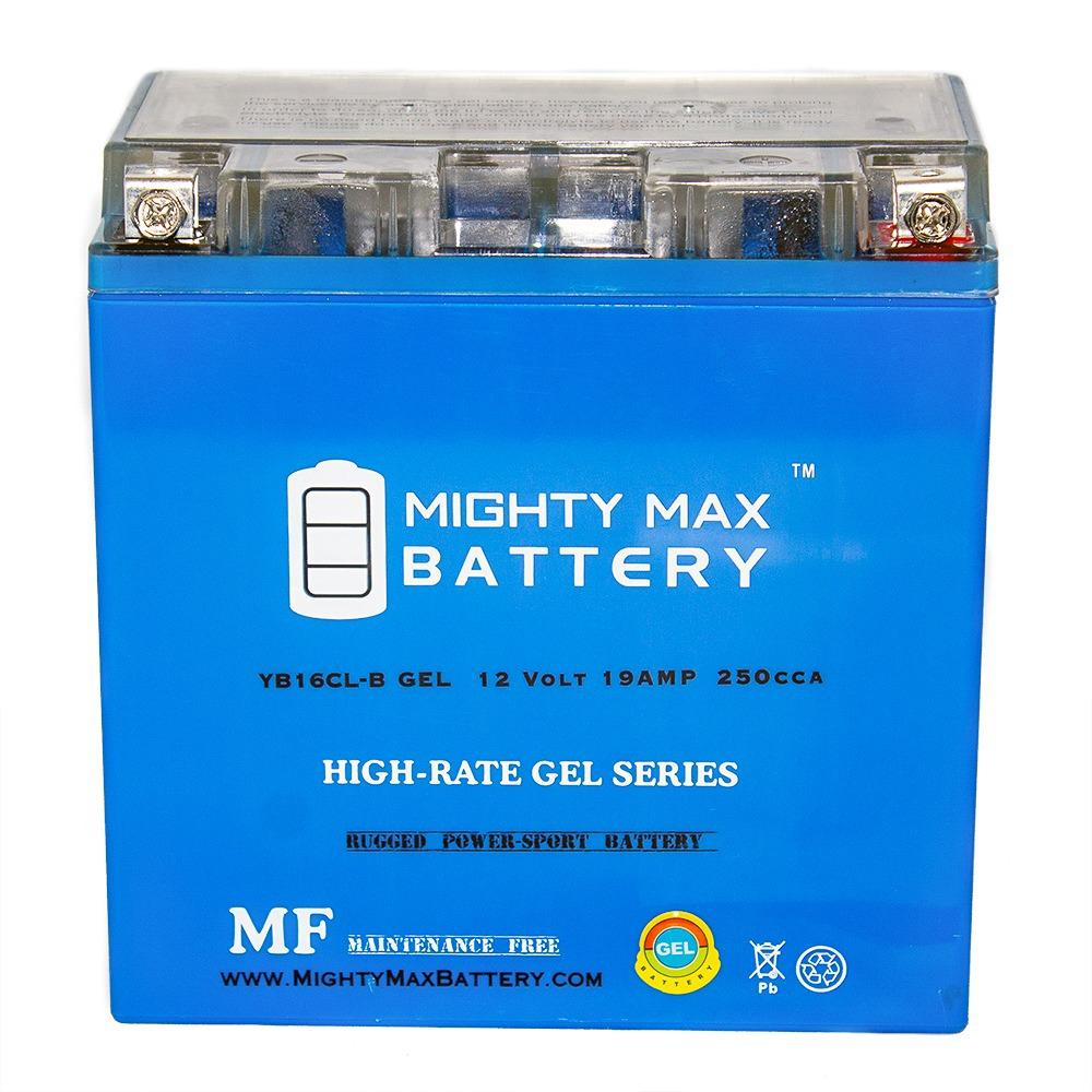 MIGHTY MAX BATTERY 12-Volt 19 Ah 250 CCA GEL High Performance Rechargeable Sealed Lead Acid (SLA) Powersport Battery