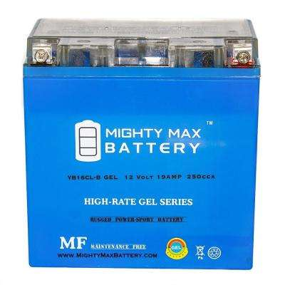 12-Volt 19 Ah 250 CCA GEL High Performance Rechargeable Sealed Lead Acid (SLA) Powersport Battery