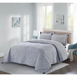 Theo 2-Piece Blue Twin Quilt Set