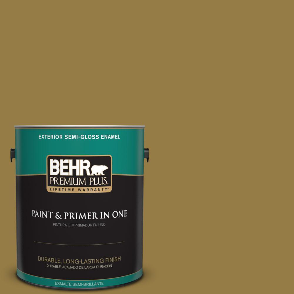 BEHR Premium Plus 1-gal. #360F-6 Raked Leaves Semi-Gloss Enamel Exterior Paint