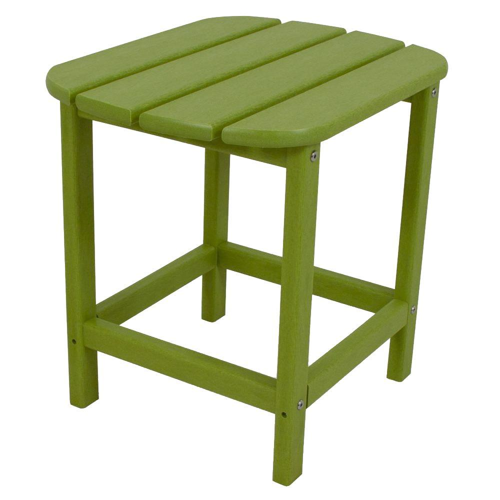 POLYWOOD POLYWOOD South Beach 18 in. Lime Patio Side Table