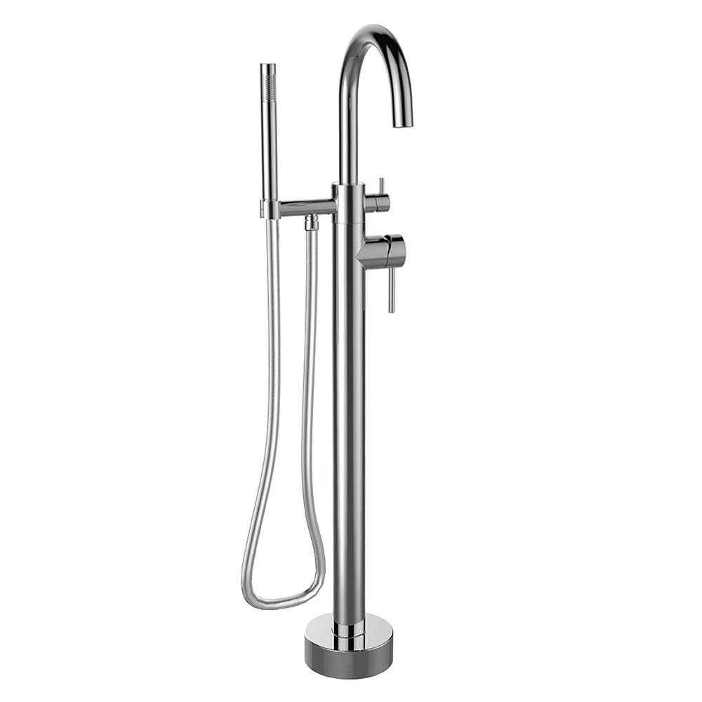 latoscana elba single handle tub filler with hand shower in chrome