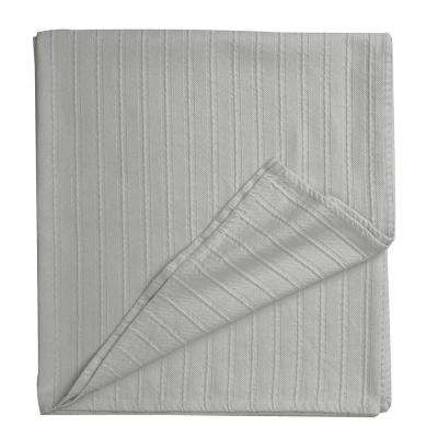 Legends Sterling Gray Egyptian Cotton Throw