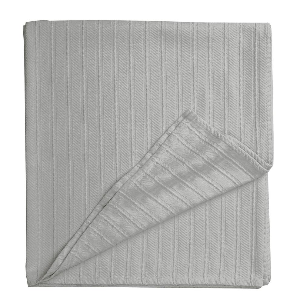 Legends Egyptian Cotton Sterling Gray Full Woven Blanket