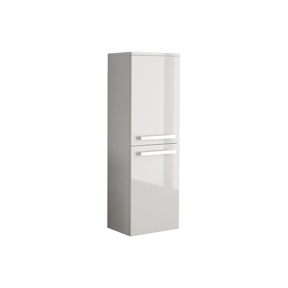 W Wall Mounted Linen Cabinet In Glossy White