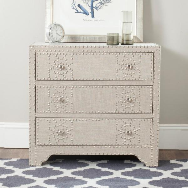 3-Drawer Gray Chest