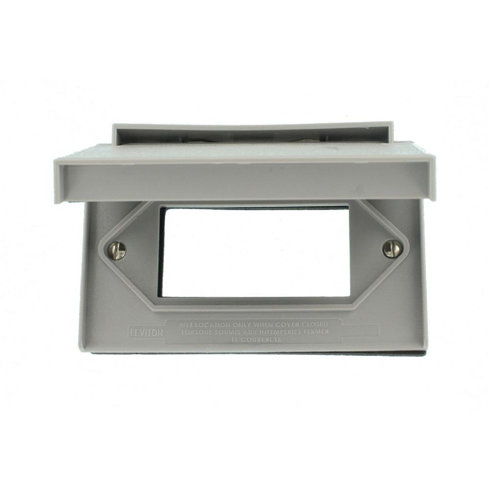 1-Gang Decora/GFCI Device Weather-Resistant Horizontal Cover, Gray