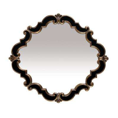 Frederick Medallion 39 in. x 35 in. Gold And Black Framed Mirror