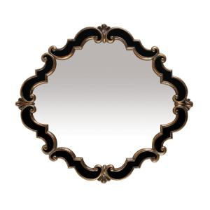 Frederick Medallion 39 In X 35 Gold And Black Framed Mirror