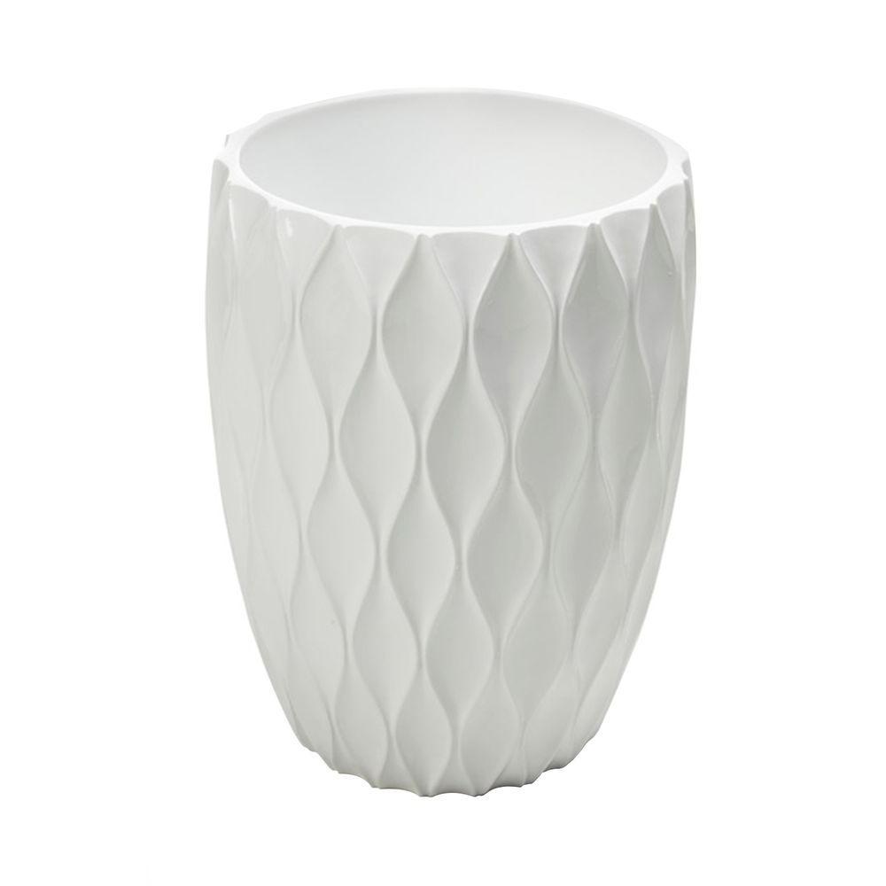 Filament Design Roselli Trading Company 11 in. Wastebasket in White