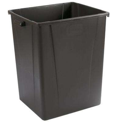 56 Gal. Brown Square Vented Trash Can