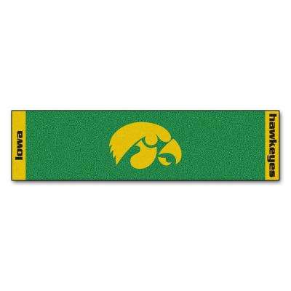 NCAA University of Iowa 1 ft. 6 in. x 6 ft. Indoor 1-Hole Golf Practice Putting Green