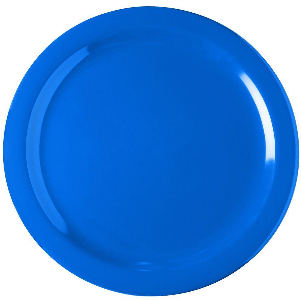 Carlisle 10.25 in. Diameter Melamine Dinner Plate in Ocean Blue (Case of 48)