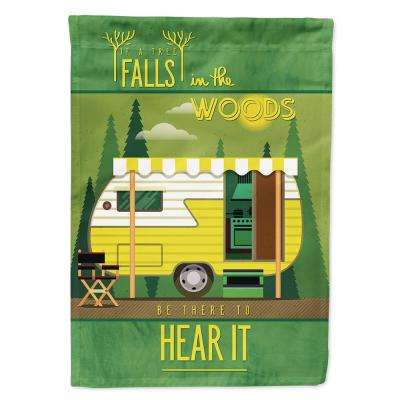 11 in. x 15-1/2 in. Polyester Be in the Woods Retro Camper 2-Sided 2-Ply Garden Flag