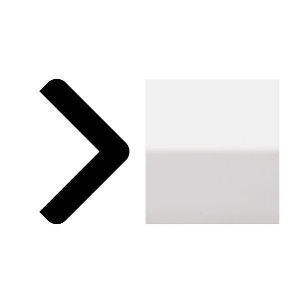 7719 1-1/8 in. x 1-1/8 in. x 8 ft. Primed White PVC Outside Corner Molding
