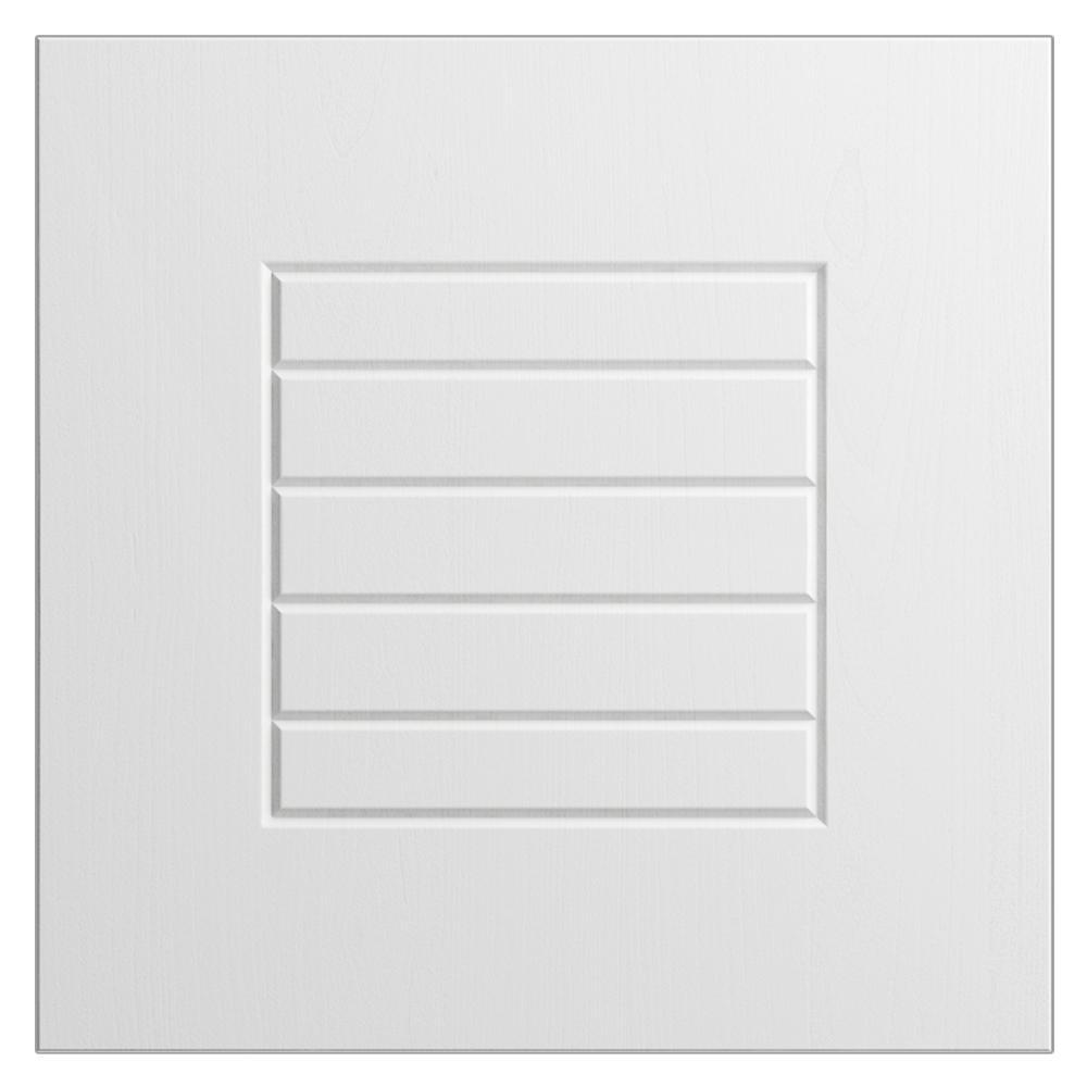 12x12 in. Cabinet Door Sample in Key West Radiant White