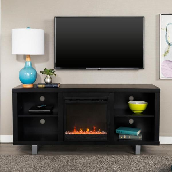 Walker Edison Furniture Company 58'' Modern Electric Fireplace TV Stand -