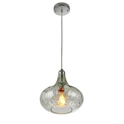 Antep 1-Light Natural Glass Vase Pendant