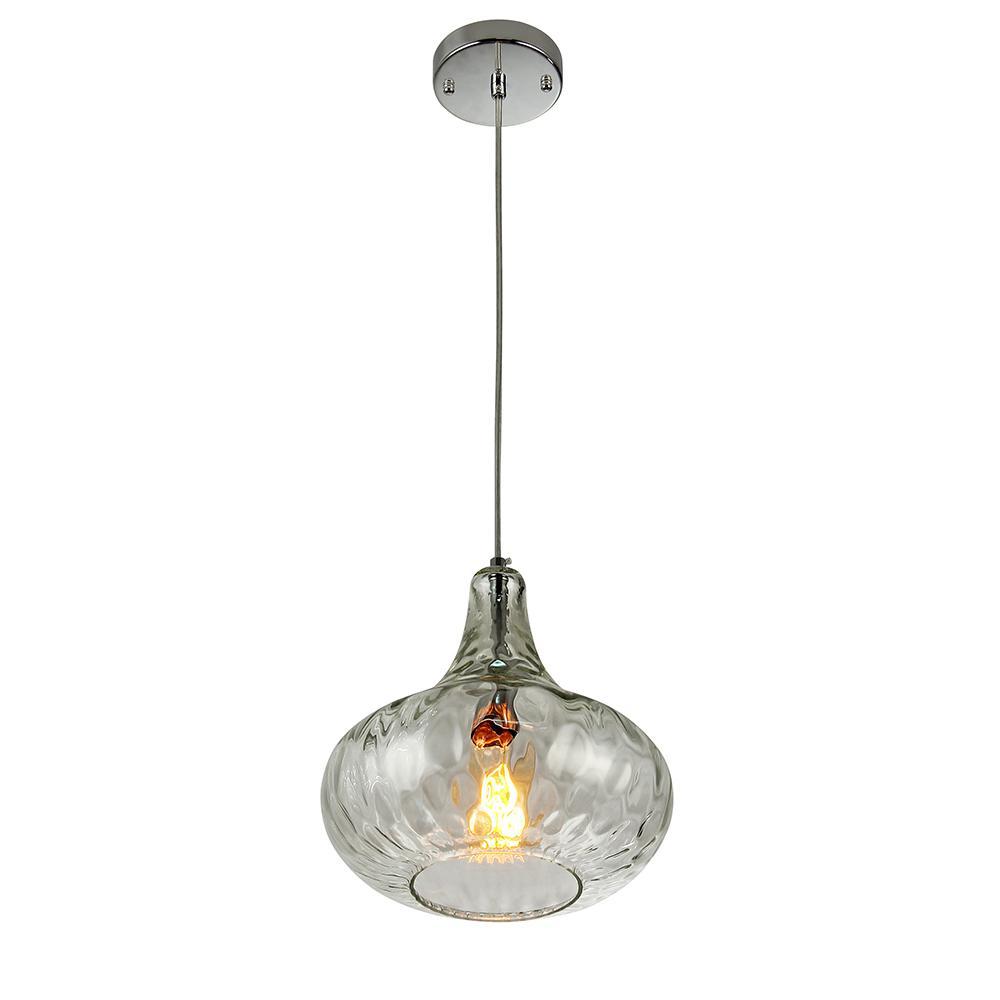 Antep 1-Light Natural Glass Vase Pendant