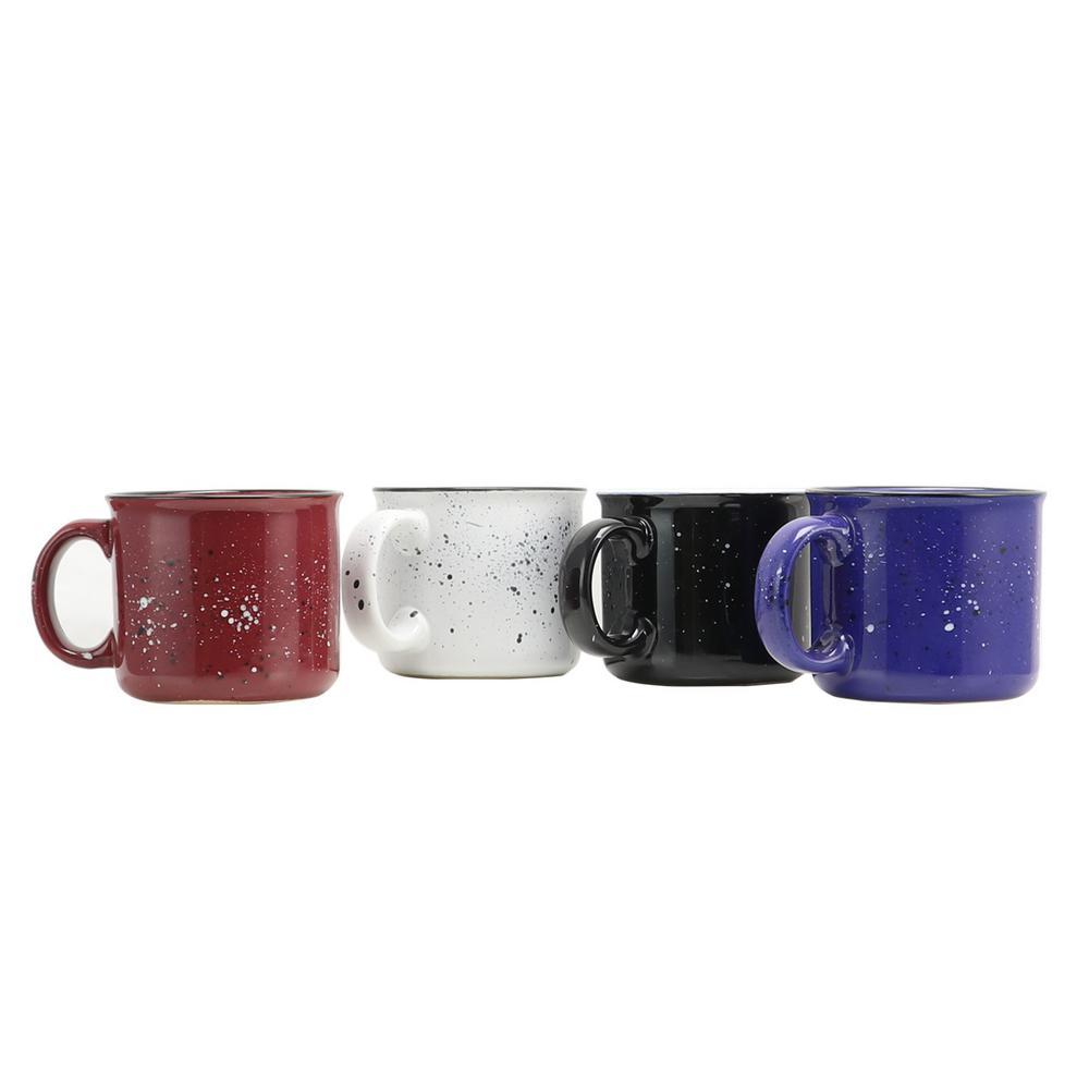 Altaic 17 oz. Assorted Color Speckle Glaze Mug (Set of 4)