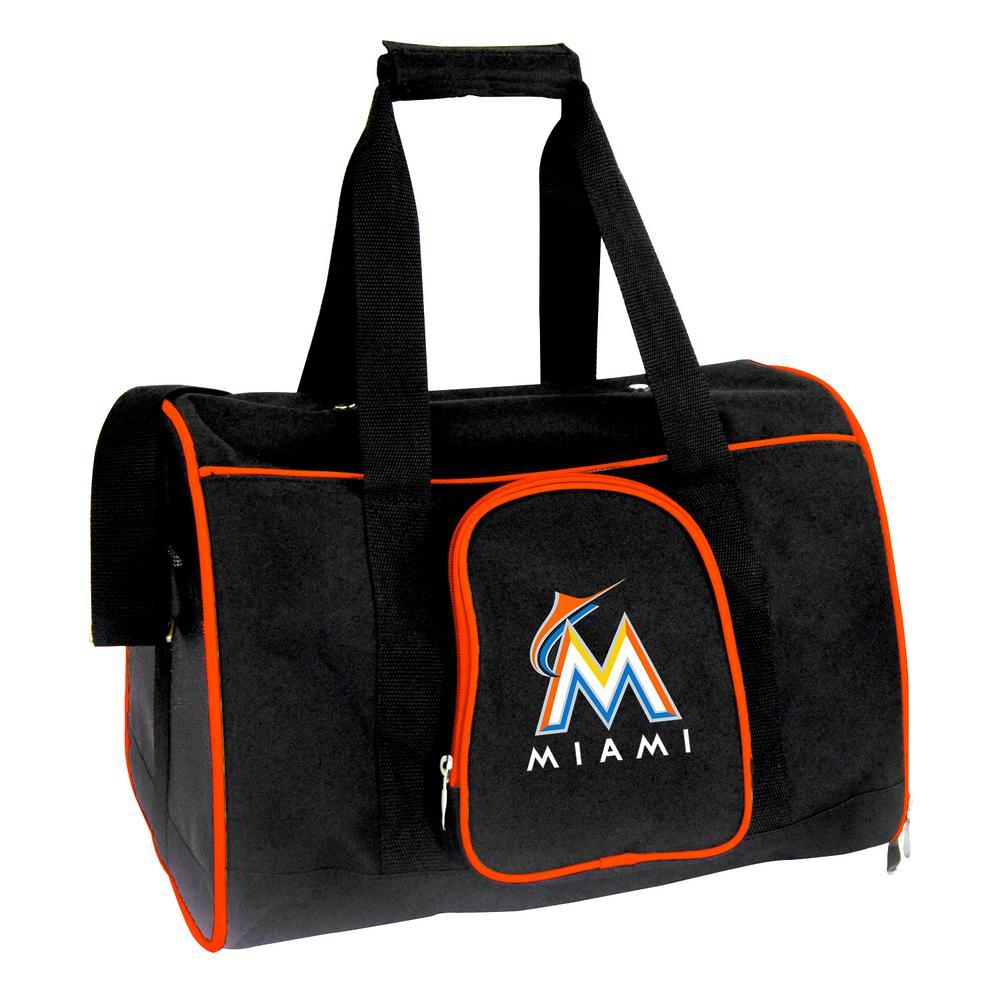 MLB Miami Marlins Pet Carrier Premium 16 in. Bag in Orange