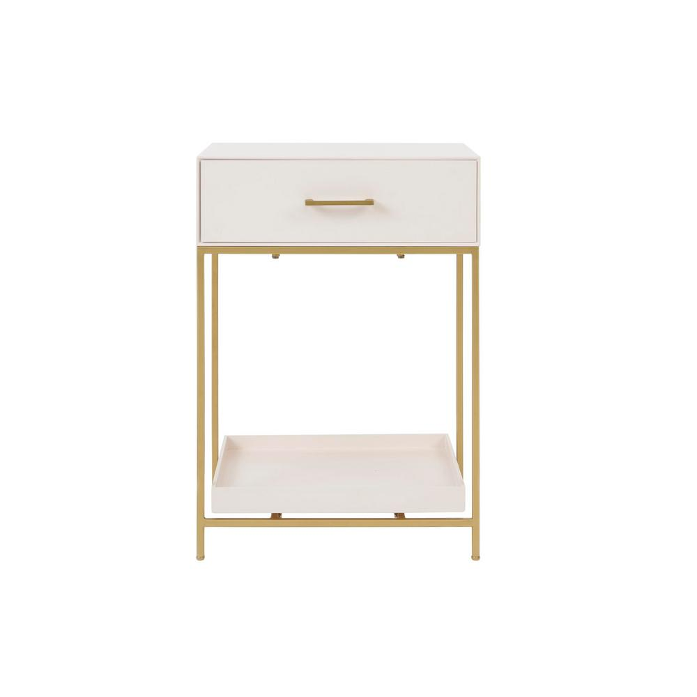 Stylewell StyleWell Fendale 1 Drawer Ivory Wood Nightstand (18.11 in W. X 26 in H.)