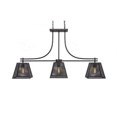 3-Light Dark Granite Billiard Light