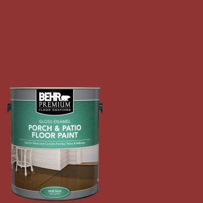 Behr Premium 1 Gal Bic 49 Red Red Red Gloss Enamel Interior Exterior Porch And Patio Floor Paint 673001 The Home Depot
