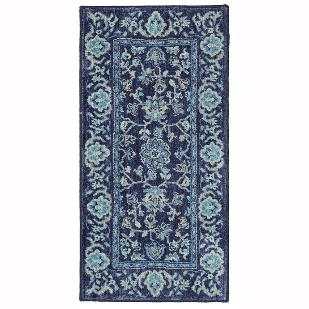 Home Decorators Collection Jackson Indigo 2 Ft X 4 Ft Scatter Rug 495930 The Home Depot