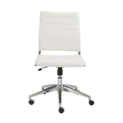 Axel White Armless Low Back Office Chair