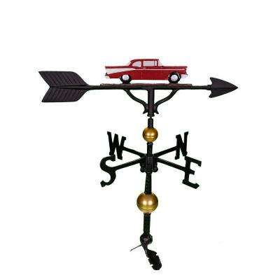 32 in. Deluxe Red Classic Car Weathervane