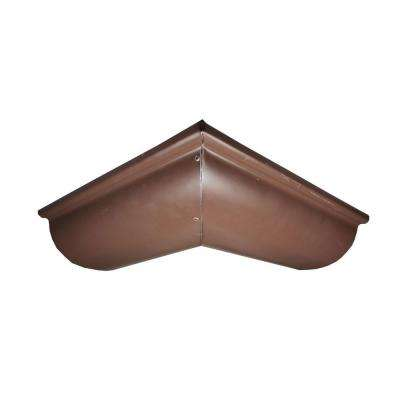 6 in. Half Round Royal Brown Aluminum Outside Miter