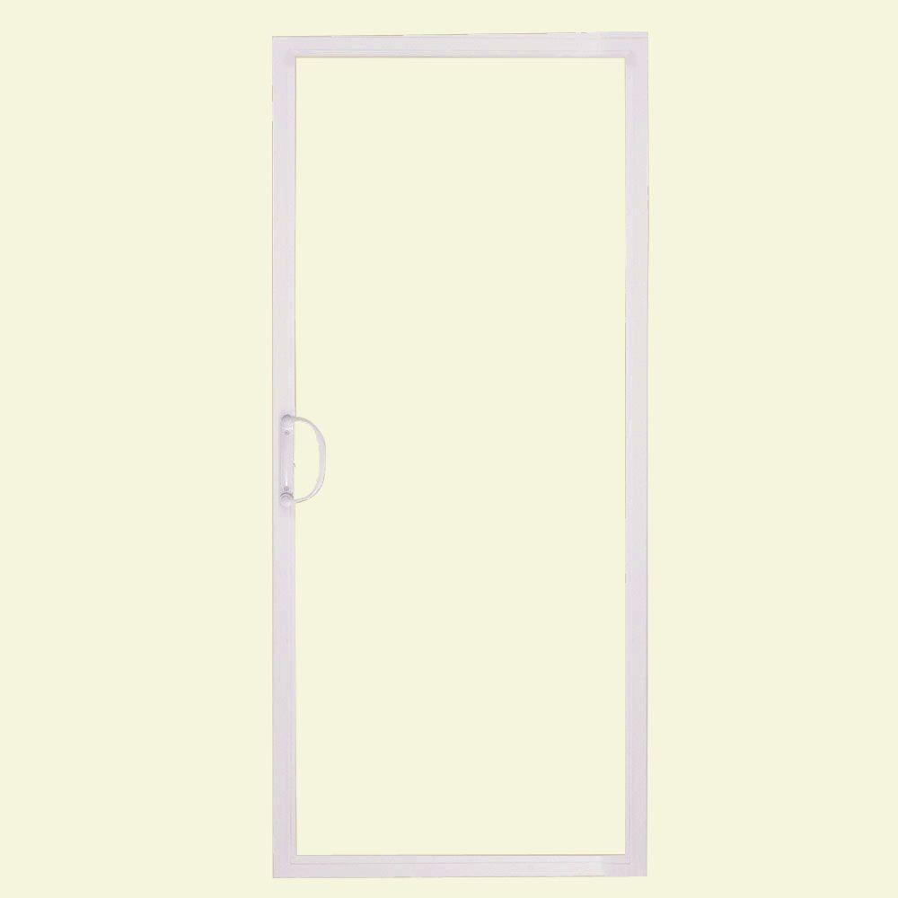 Elegant American Craftsman 72 In. X 80 In. 50 Series White Vinyl Sliding Patio Door