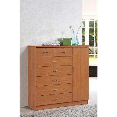 7 Drawer Cherry Chest With Door