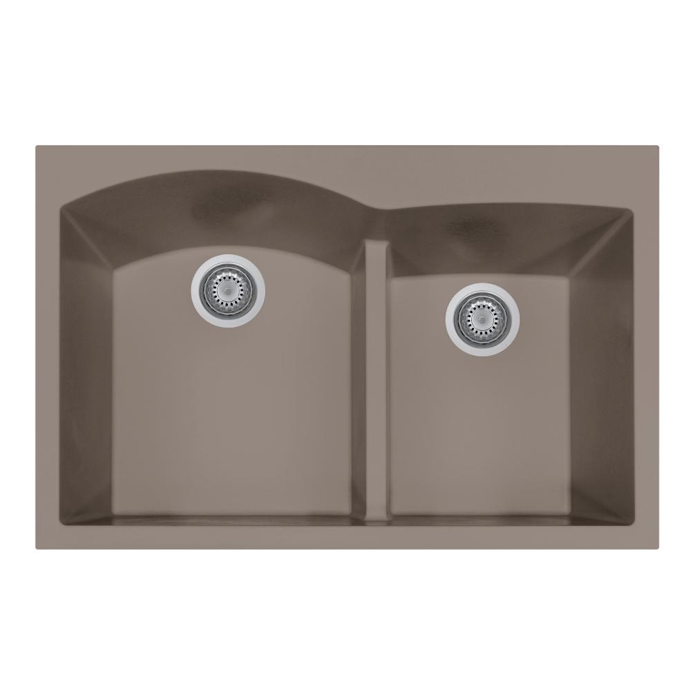 Houzer Quartztone Series Undermount Granite 33 In Double