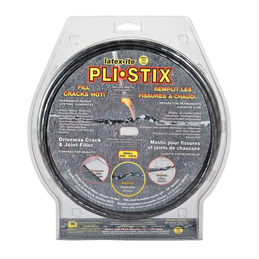 Latex-ite Pli-Stix 60 ft. Small Black Driveway Crack and Joint Filler
