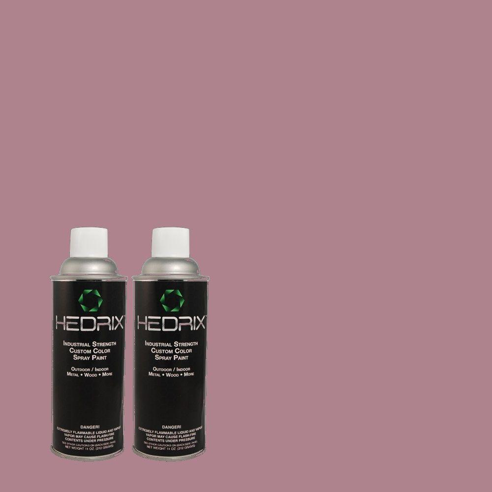 Hedrix 11 oz. Match of PMD-82 Violet Bouquet Semi-Gloss Custom Spray Paint (2-Pack)