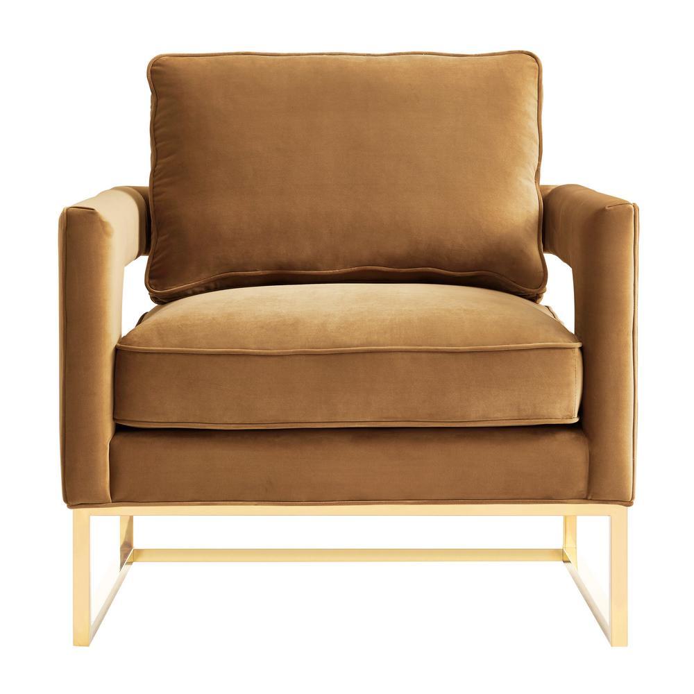 TOV Furniture Avery Cognac Velvet Chair