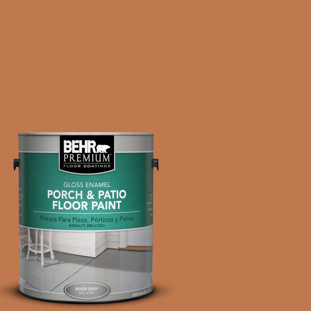1 gal. #240D-6 Chivalry Copper Gloss Porch and Patio Floor Paint