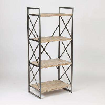 54 in. Natural Etagere Bookcase