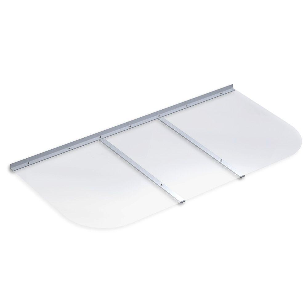 53 in. x 25 in. Rectangular Clear Polycarbonate Window Well Cover