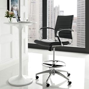 Jive Drafting Stool in Black