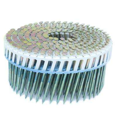2.25 in. x 0.092 in. 15-Degree Smooth Galvanized Plastic Sheet Coil Siding Nail 3,200 per Box