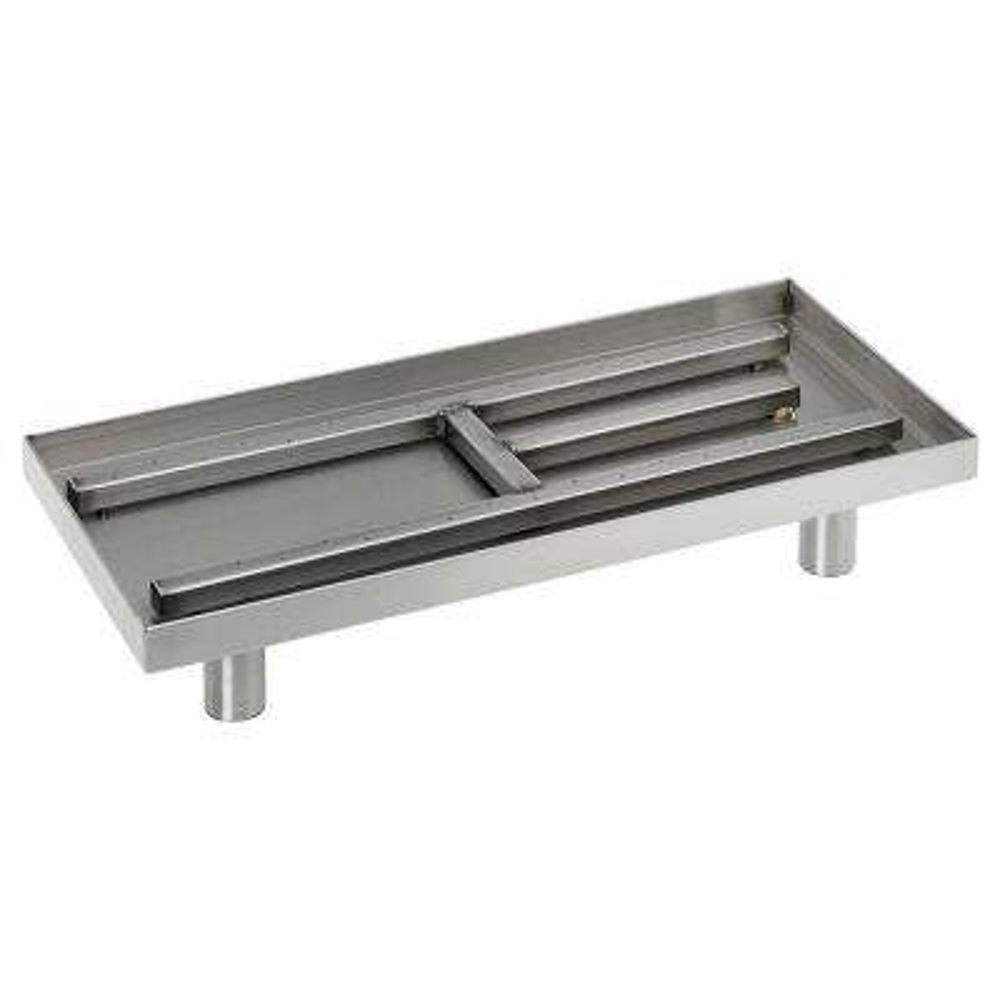 22 in. Rectangular Stainless Steel Pan Burner
