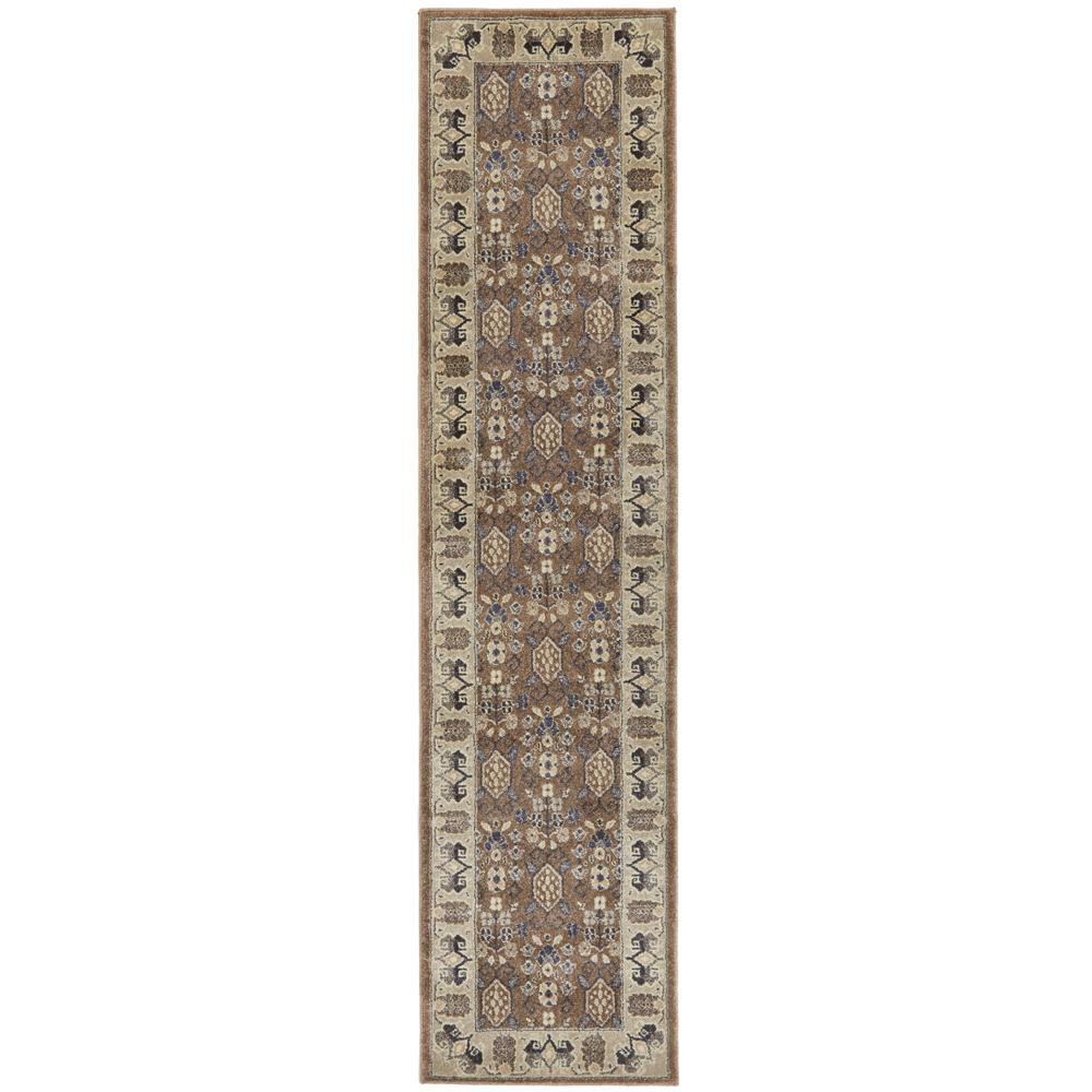 Home Decorators Collection Gianna Brown 2 Ft X 8 Ft Runner Rug 452026 The Home Depot