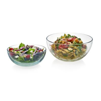 Selene 2-Piece, 8 in. and 10 in. Glass Serving Bowl Set