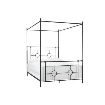 Higgins Black Metal Queen Canopy Bed (61 in W. X 82 in H.)